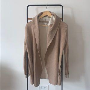 Joie Wool Cashmere Shawl Hood Cardigan Sweater